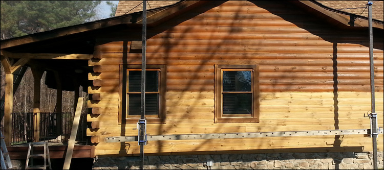 Log Cabin Finish Removal